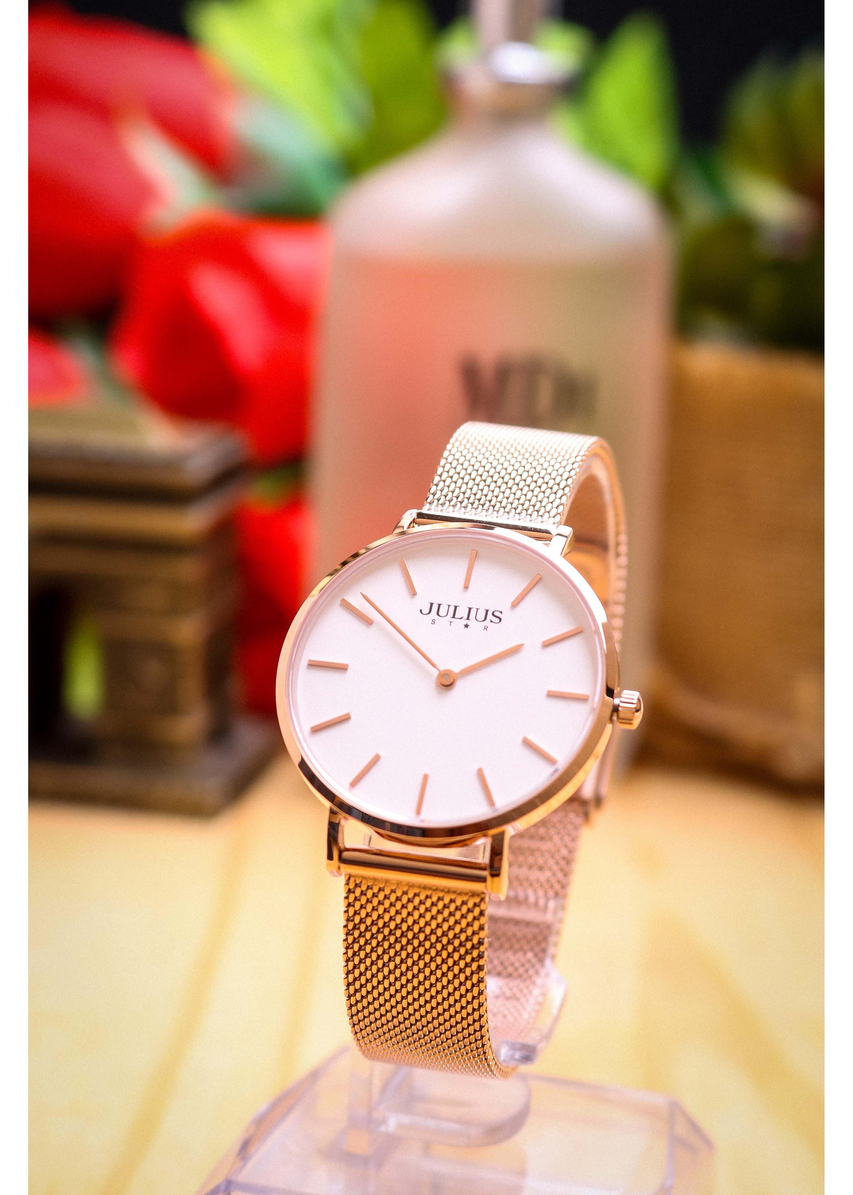 Đồng hồ nữ Julius Star Hàn Quốc js-027 siêu mỏng (nhiều màu)