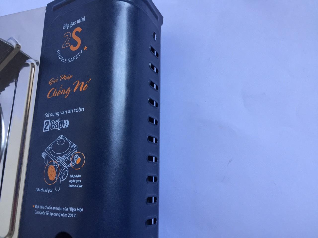 Bếp gas mini cao cấp 2S NaMilux NA-194PS-VN công suất cao 3.4kw, chống nổ(giao màu ngẫu nhiên) - Hàng chính hãng