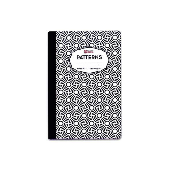 Sổ kẻ ngang 360 trang Patterns 4533 (bộ 3 quyển)