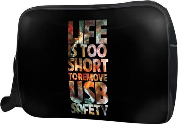 Túi Đeo Chéo Hộp Unisex Life Is Too Short - TCTE010 34 x 9 x 25 cm