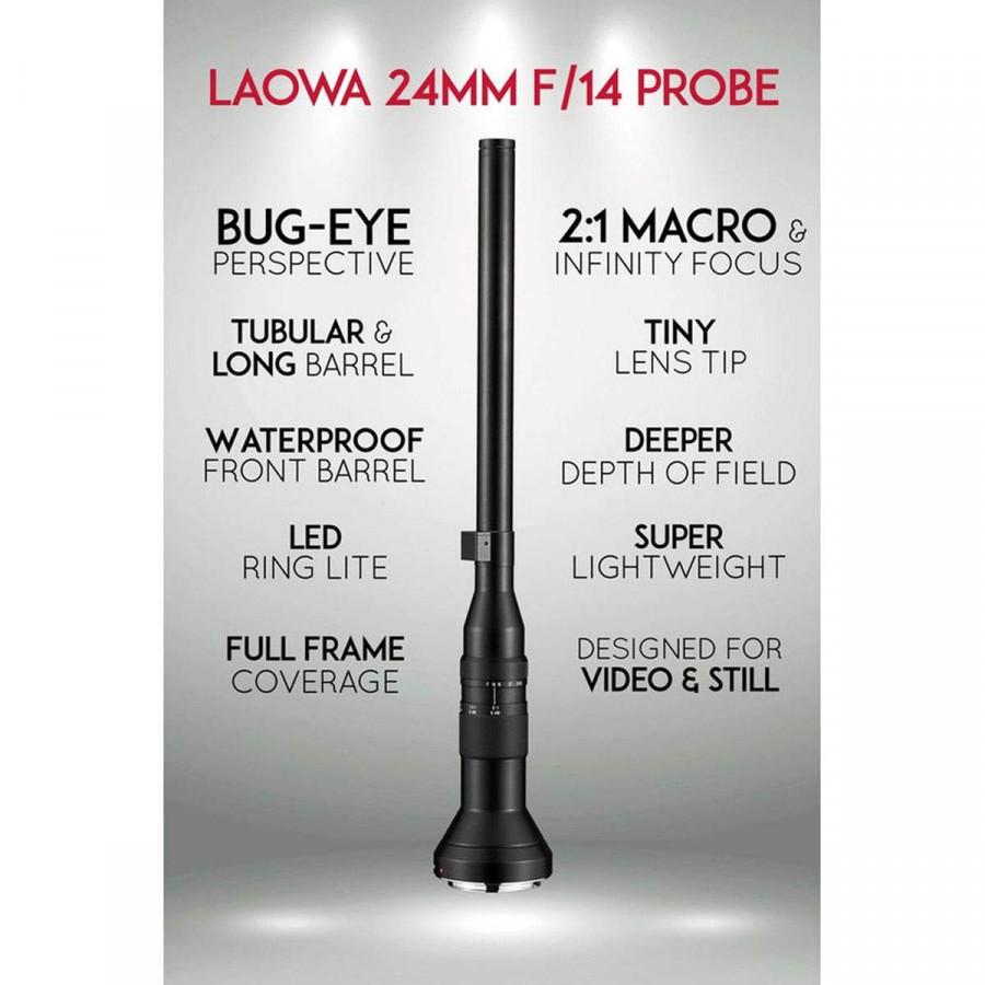 Ống kính Laowa 24mm f/14 Probe Lens for Sony E - Hàng chính hãng