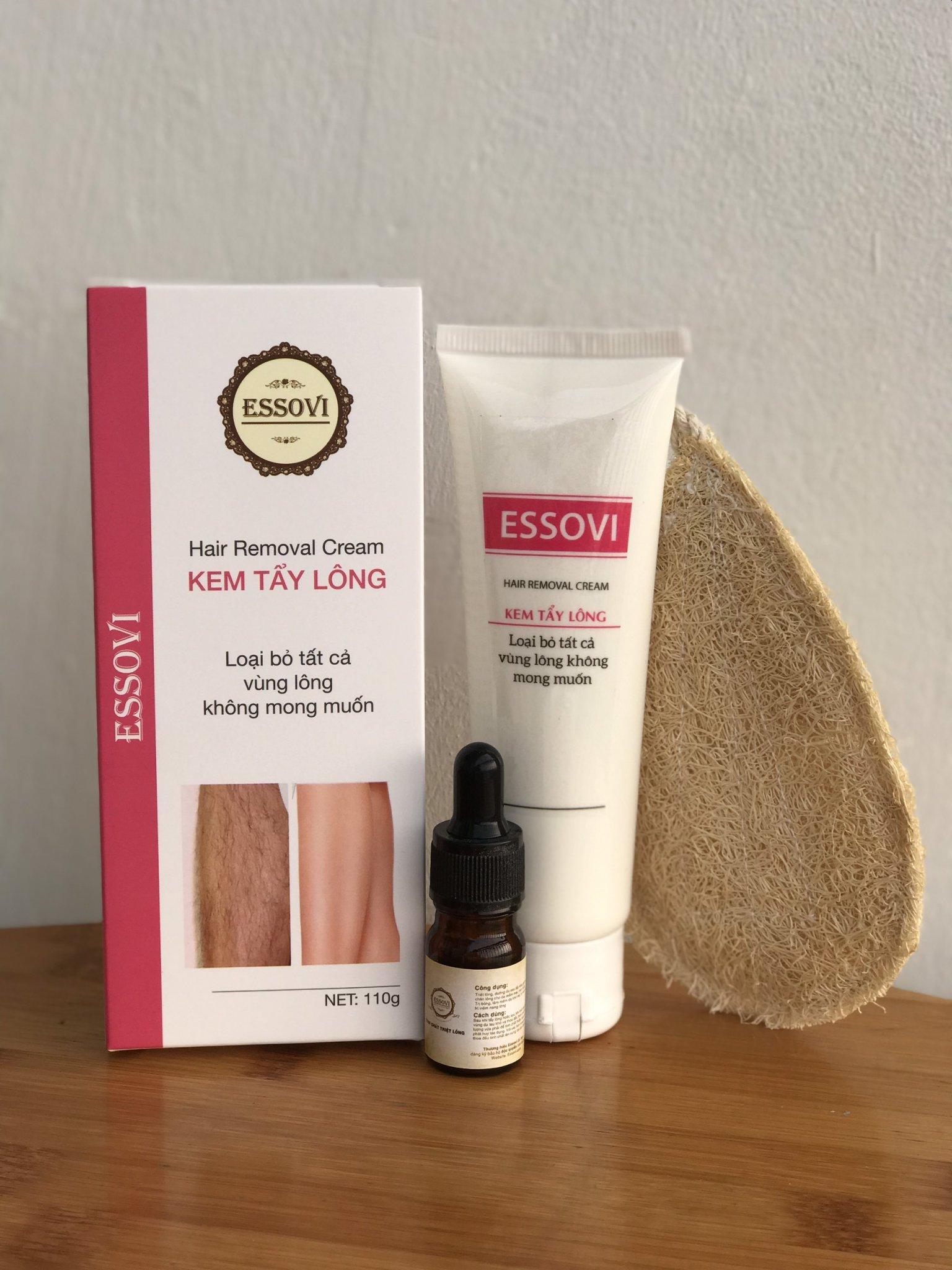 Bộ 3 sản phẩm kem tẩy lông Essovi (tặng kèm tinh chất triệt lông)