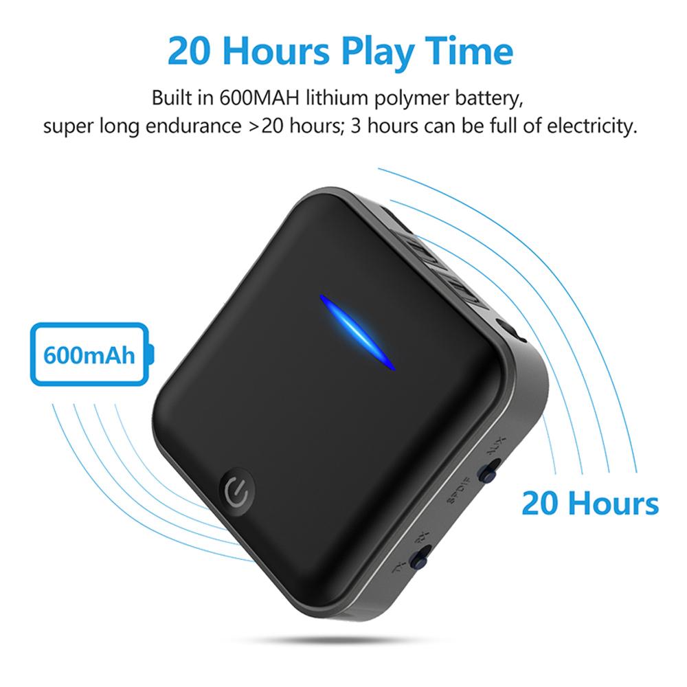 Thiết Bị Thu Phát Nhạc Không Dây Bluetooth 5.0 BT-B19 Hỗ Trợ Cổng Optical Cao Cấp AZONE