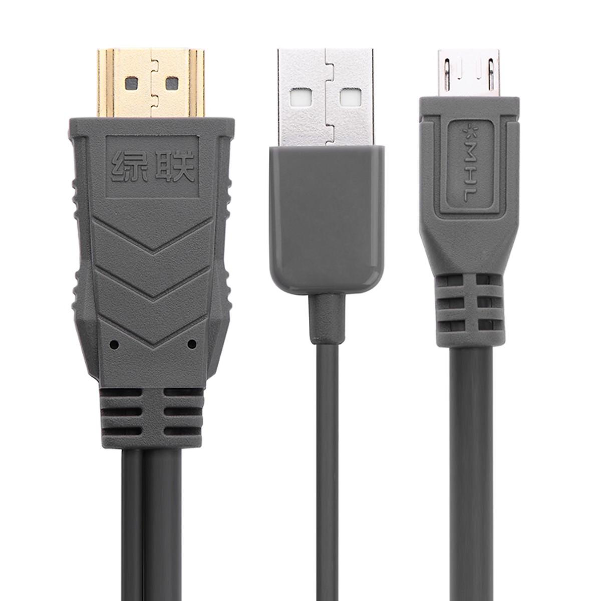 2M CáP Mhl Micro 5Pin To Hdmi Cable Đen 20133 - 20133 Ugreen - Hàng Chính Hãng