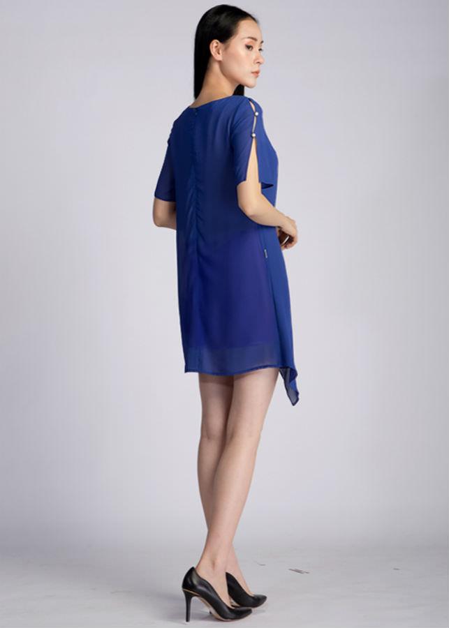 Váy Nữ Bèo Vạt Xéo  AY1017X - Xanh Dương