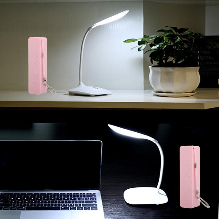 Đèn học để bàn led tiết kiệm điện - Có Pin sạc + Tặng Pin mini 2600mAh nhỏ xinh ( màu sắc ngẫu nhiên )