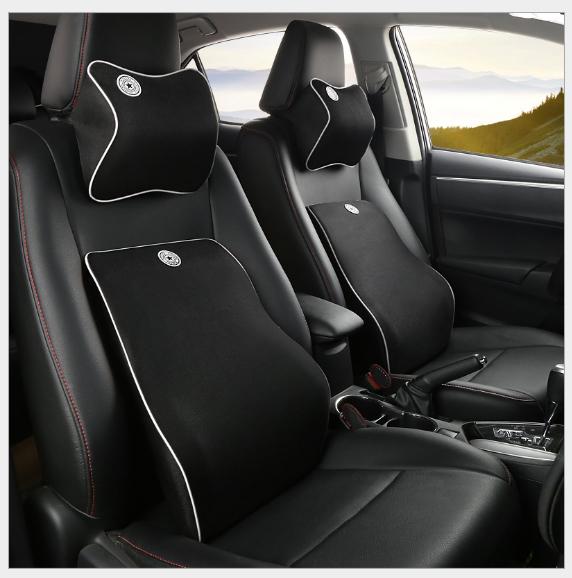 Bộ gối ghế tựa lưng và đầu xe hơi,ô tô chất liệu cao su non cao cấp