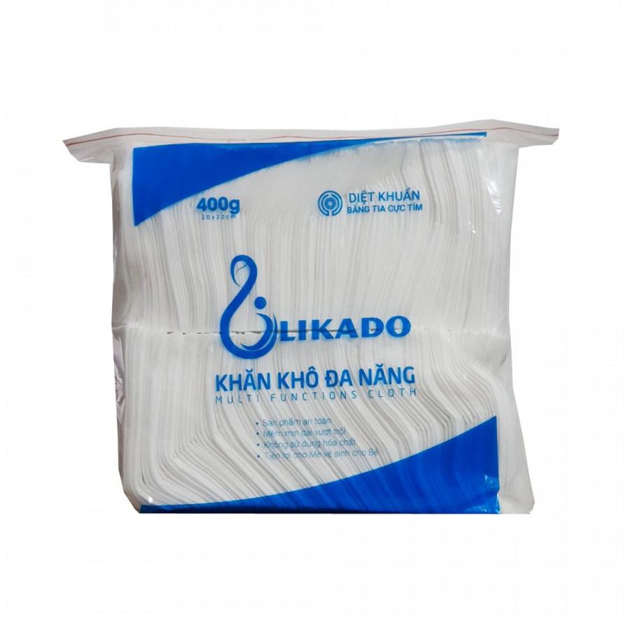 4 Bịch Khăn vải khô đa năng LIKADO 400g (20 x 22cm)