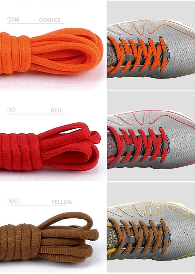 01 cặp dây giày thể thao loại đẹp, oval hình bán nguyệt dài 1 mét, màu sắc thời trang PETTINO - LS02