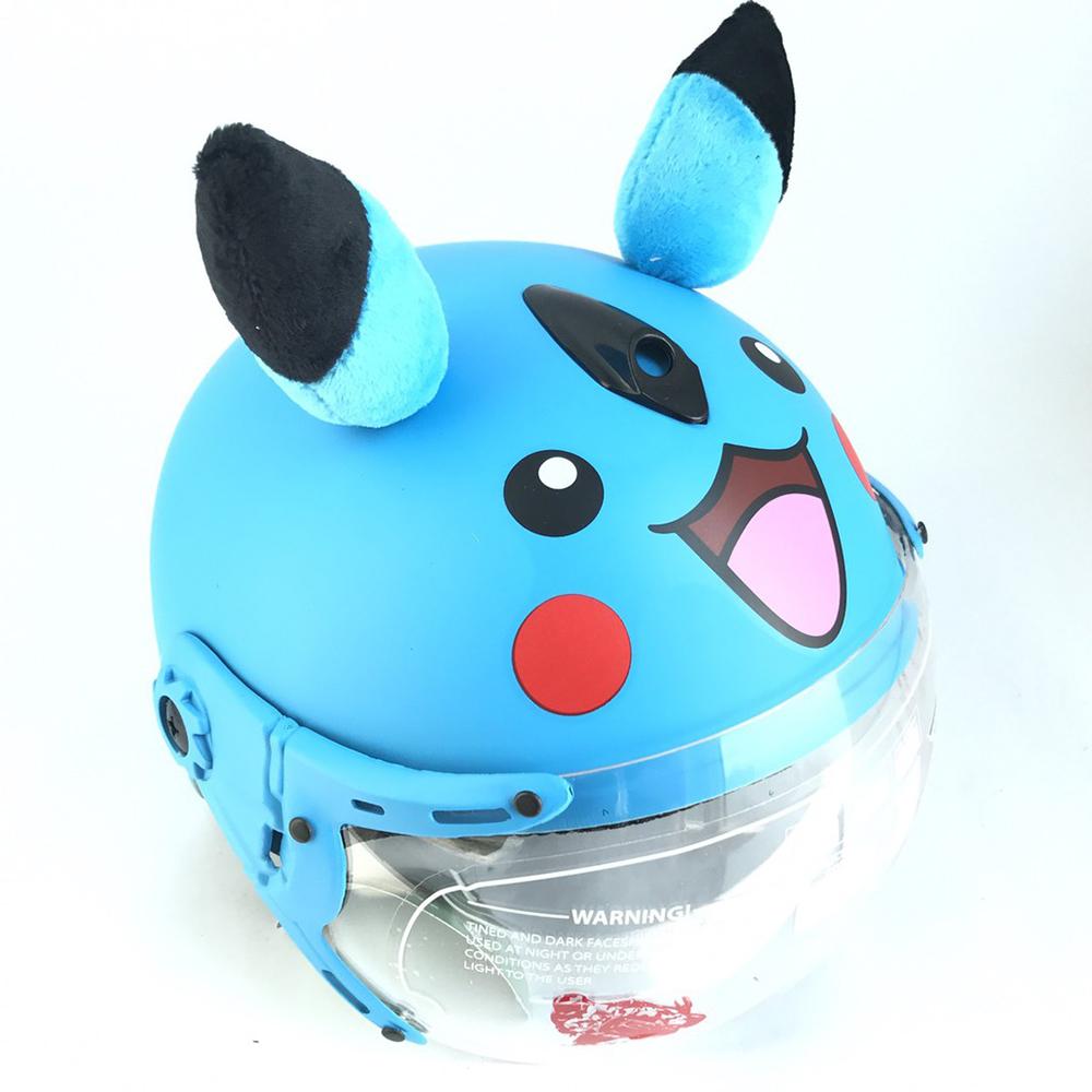 Mũ bảo hiểm trẻ em hình pikachu có tai siêu dễ thương nhiều màu