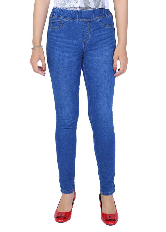 Quần Jeans Baggy Lưng Thun A91 JEANS WBGBS001ME - Xanh