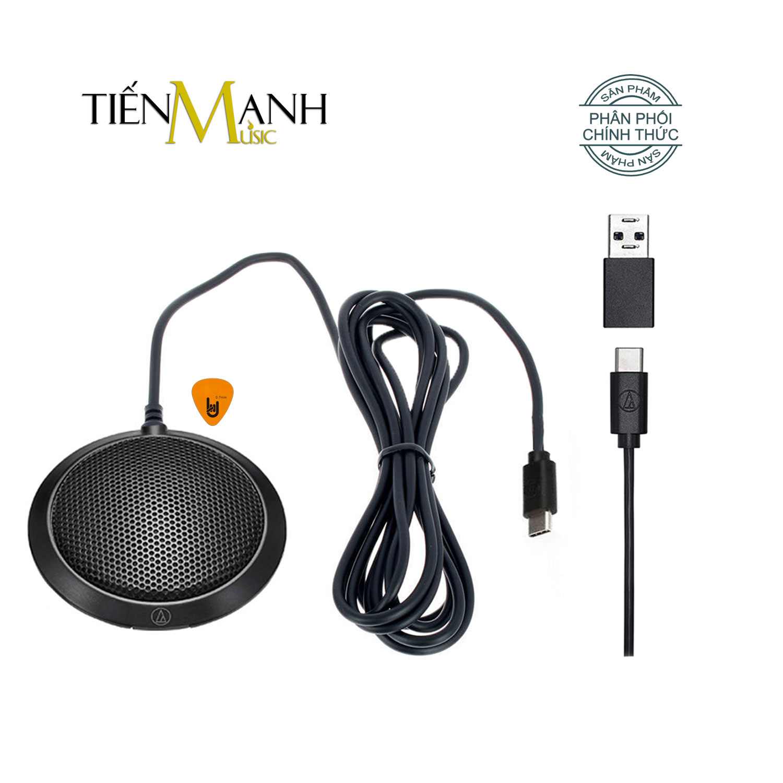 Mic Họp Trực tuyến Online Audio Technica ATR4697 - USB Micro tích hợp sẵn Soundcard, Hướng thu đa hướng Condenser - Kèm Móng Gẩy DreamMaker