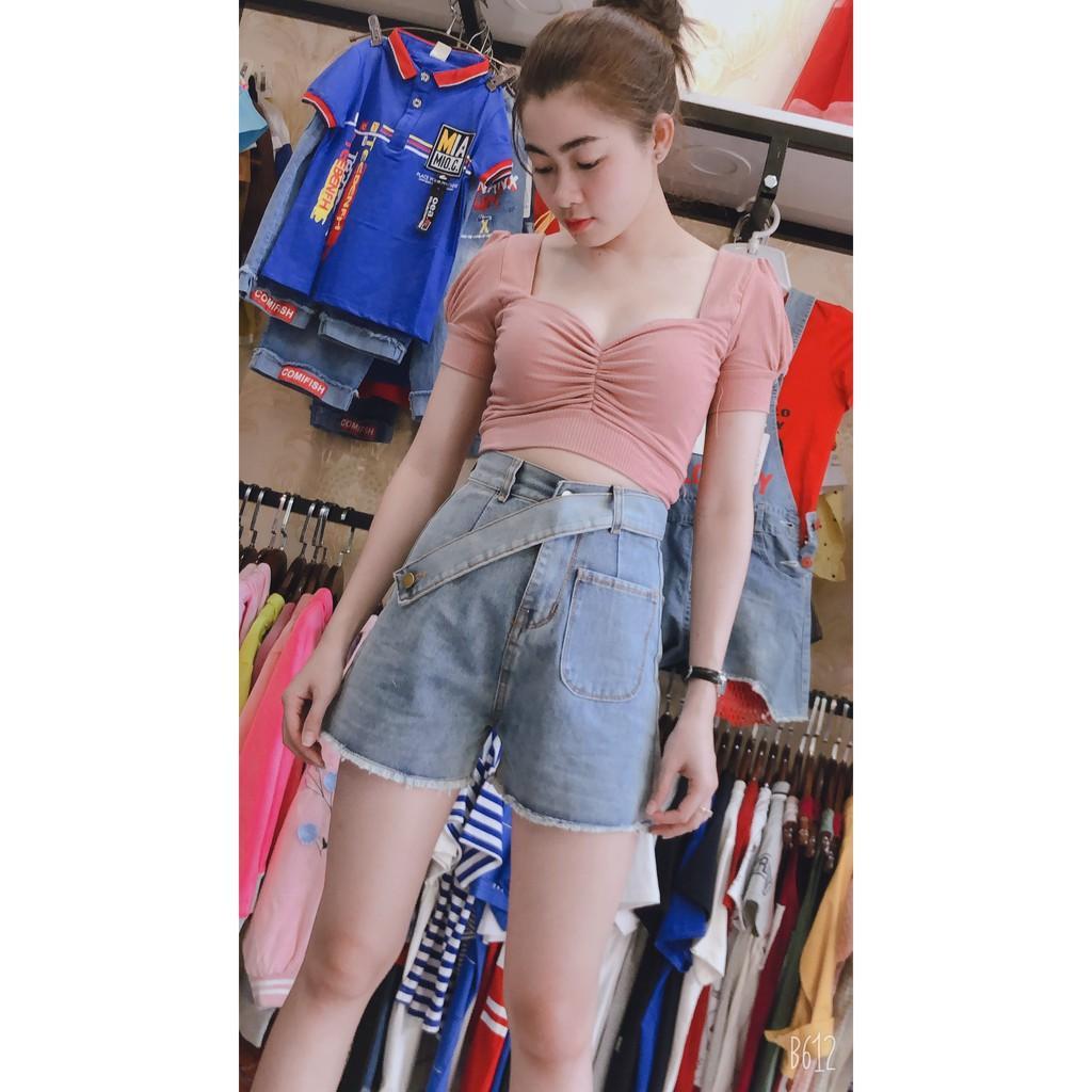 Quần Short Jeans Nữ Lưng Cao Thời Trang