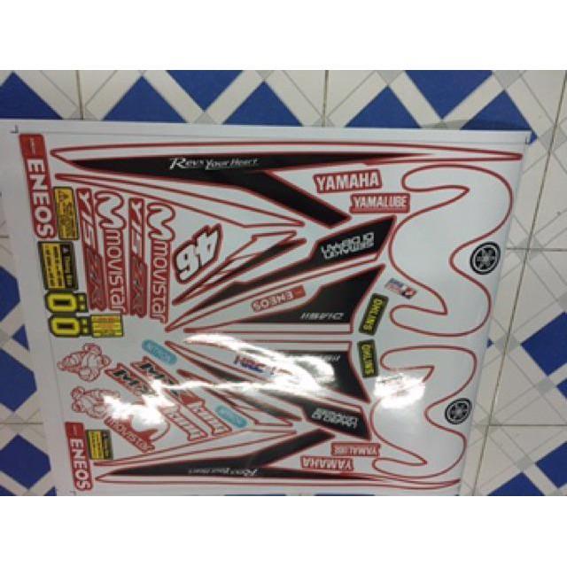 Tem dán dành cho xe máy exciter 150 movistar đỏ tặng thêm sét tem logo (bộ)