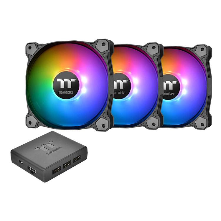 Bộ 3 Quạt Tản Nhiệt Thermaltake Pure Plus 12 RGB (3-Fan Pack) CL-F063-PL12SW-A - Hàng Chính Hãng