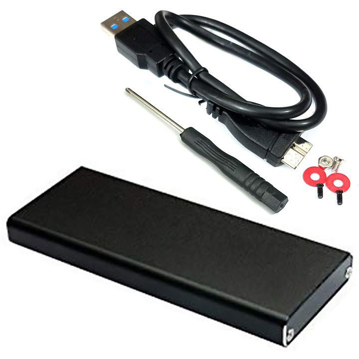 Box ổ cứng SSD M.2 chuẩn SATA vỏ nhôm USB 3.0