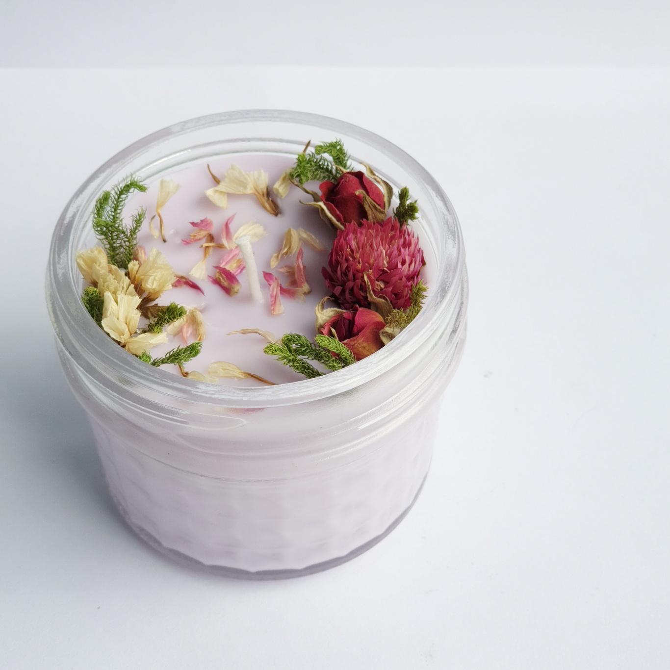 Nến thơm tinh dầu Lavender 100g, giúp thư giãn, thơm phòng, khử mùi, Essential Oil Candle