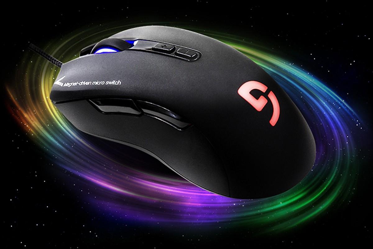 Chuột Gaming có dây Fuhlen G90 Pro 5000DPI LED RGB 7 Nút - Hàng Chính Hãng (Tặng bàn di kích cỡ 70x30 cm)