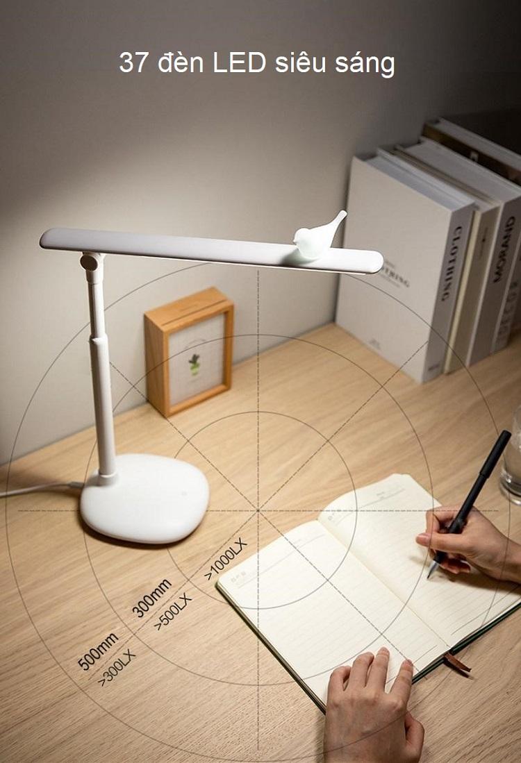 Đèn led để bàn nút cảm ứng chạm (BA CHẾ ĐỘ SÁNG) - Tặng kèm quạt mini cắm cổng USB vỏ nhựa giao màu ngẫu nhiên