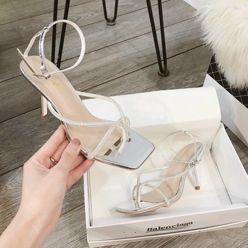 Sandal cao gót nữ quai đá xỏ ngón