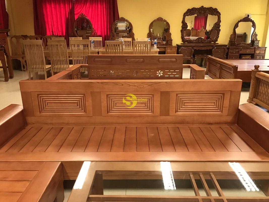 Bộ sofa góc Triện gỗ sồi Nga
