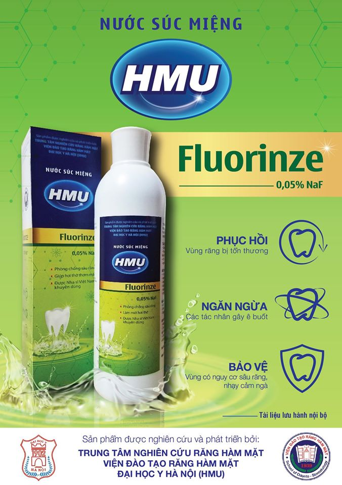 Nước súc miệng HMU Fluorinze 0.05% NaF 250 ML