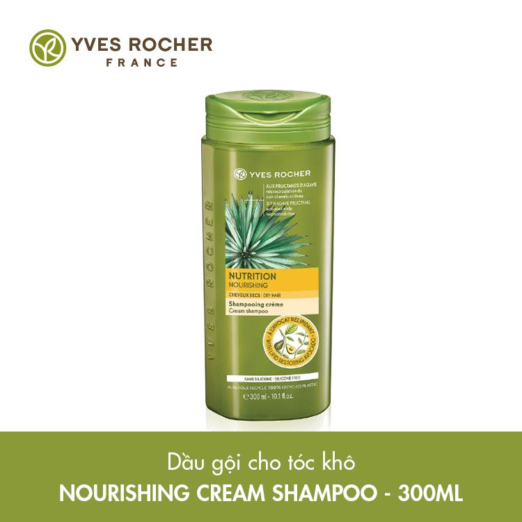 Dầu Gội Dành Cho Tóc Khô Yves Rocher Nourishing Cream Shampoo 300ml