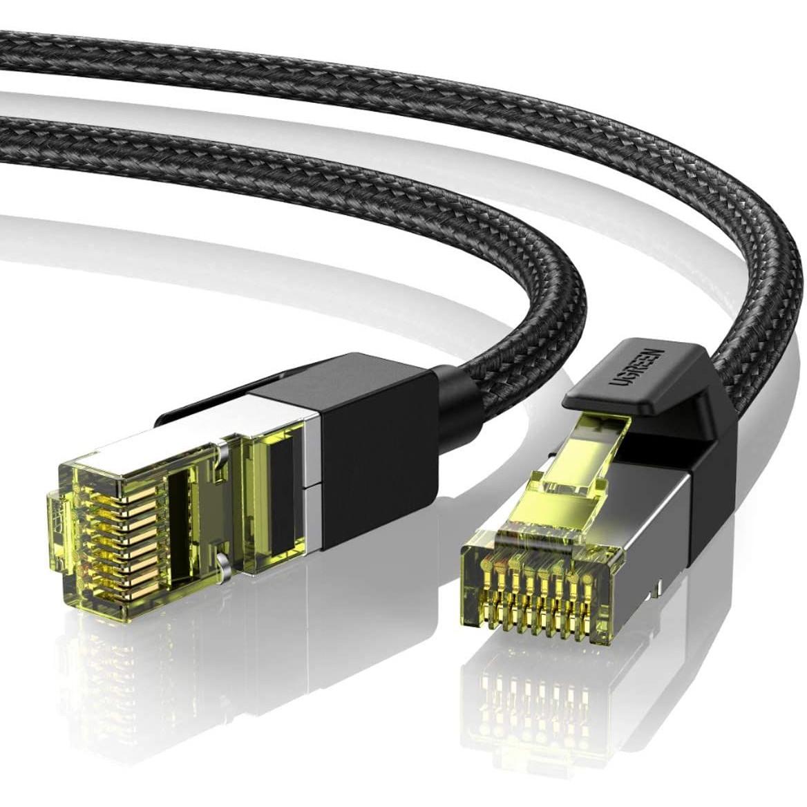 Cáp mạng 1M CAT7 OD5.5mm truyền dữ liệu giữa các máy tính Ugreen 80421  NW150 Hàng Chính Hãng