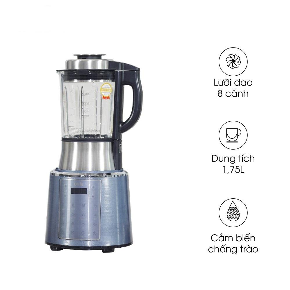 Máy làm sữa hạt đa năng Unie V6, tổng công suất 1800W, dung tích 1.75L, công nghệ cảm biến chống trào mới, hàng chính hãng