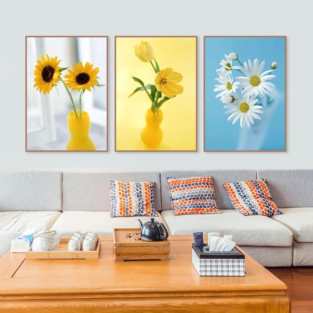 Tranh canvas Trang Trí Treo Tường- Lọ Hoa Hướng Dương