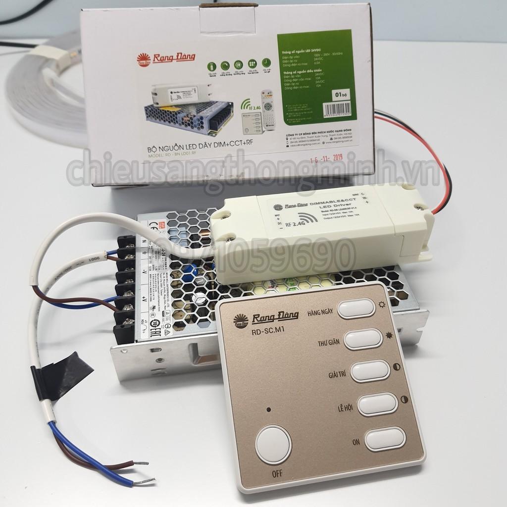 Bộ nguồn LED dây Rạng Đông điều khiển từ xa remote BN LD01.RF