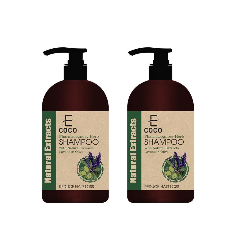 Dầu gội dược liệu giảm rụng tóc chiết xuất oải hương, ô liu Ecoco 336g - Combo 2 chai