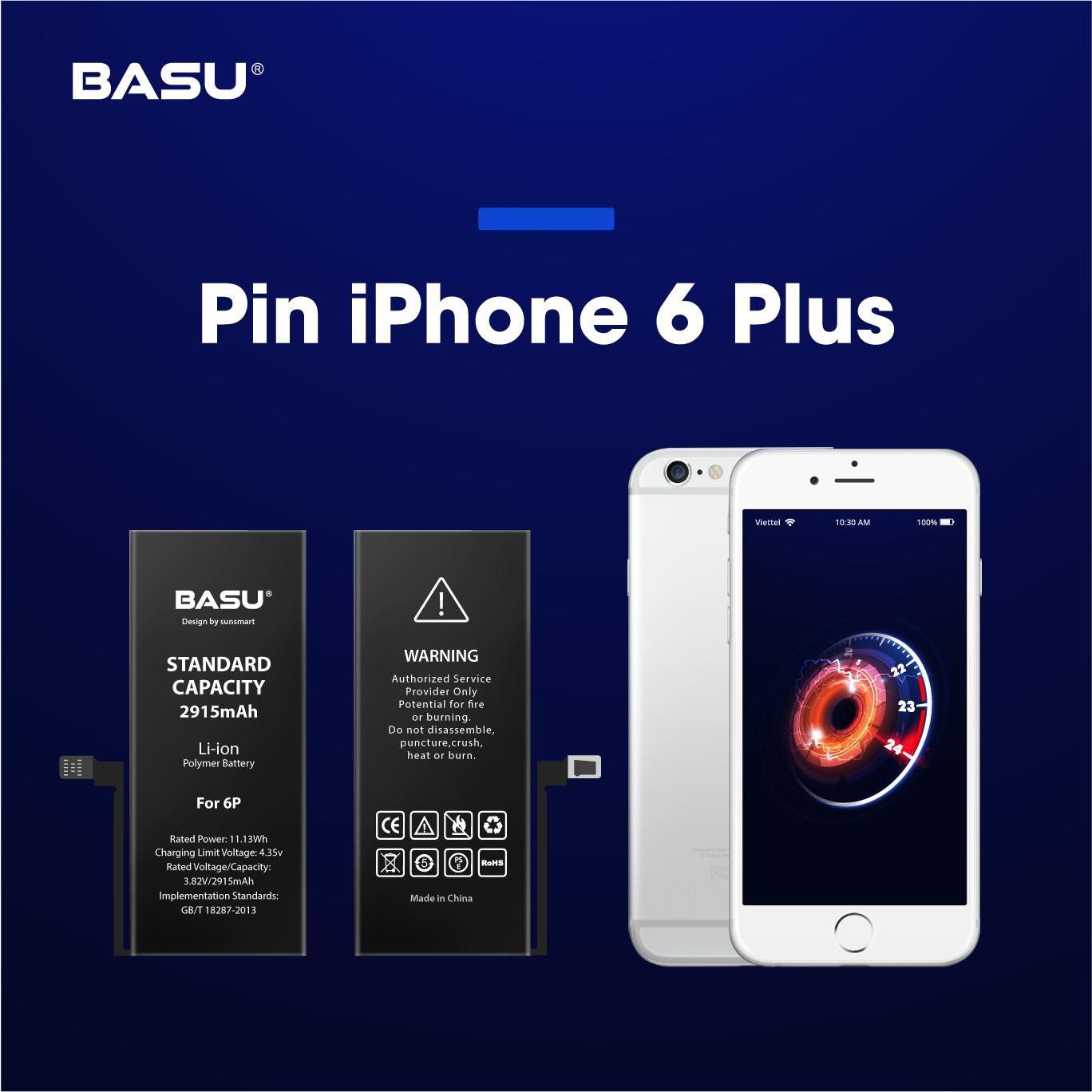 Pin cho iphone 6 Plus tặng kèm dây sạc - Chính hãng