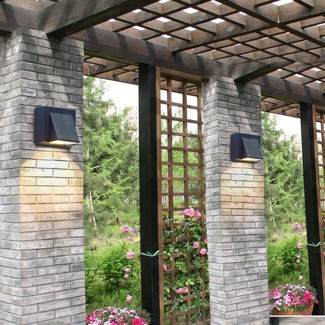 Đèn gắn tường ngoài trời hiện đại hình chữ nhật vát hắt một đầu ...