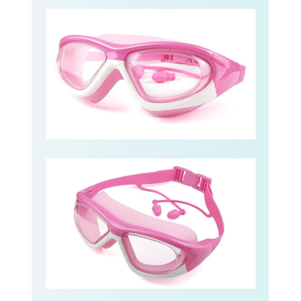 Kính bơi cao cấp có nút bịt tai và chống tia UV cho trẻ em