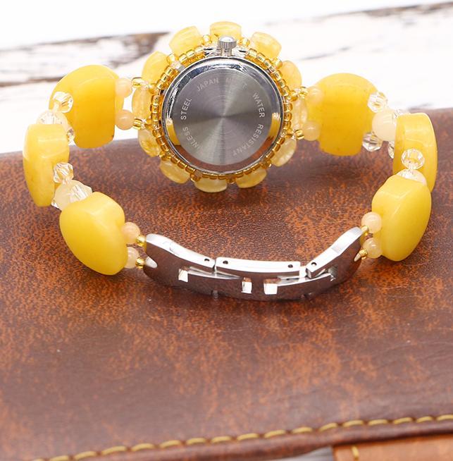 Đồng Hồ Nữ Đá Thạch Anh Topaz Vàng DHN15 Bảo Ngọc Jewelry