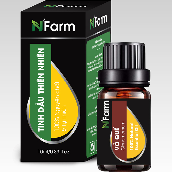 Tinh Dầu Vỏ Quế Nguyên Chất N'farm 10ml (Cinnamomum)
