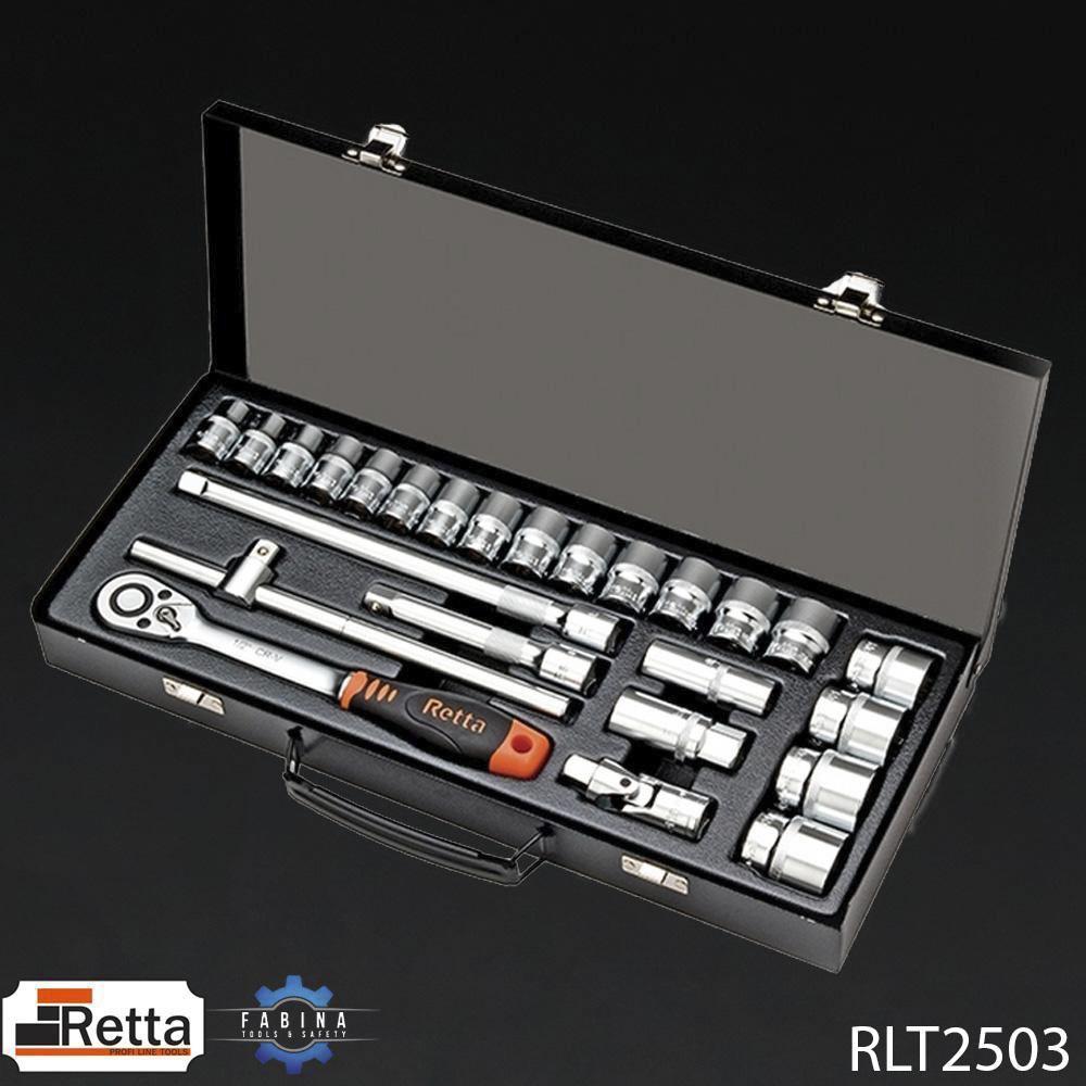 BỘ CẦN LỰC - ĐẦU NỐI 25 CHI TIẾT 1/2 INCH RETTA - RLT2503