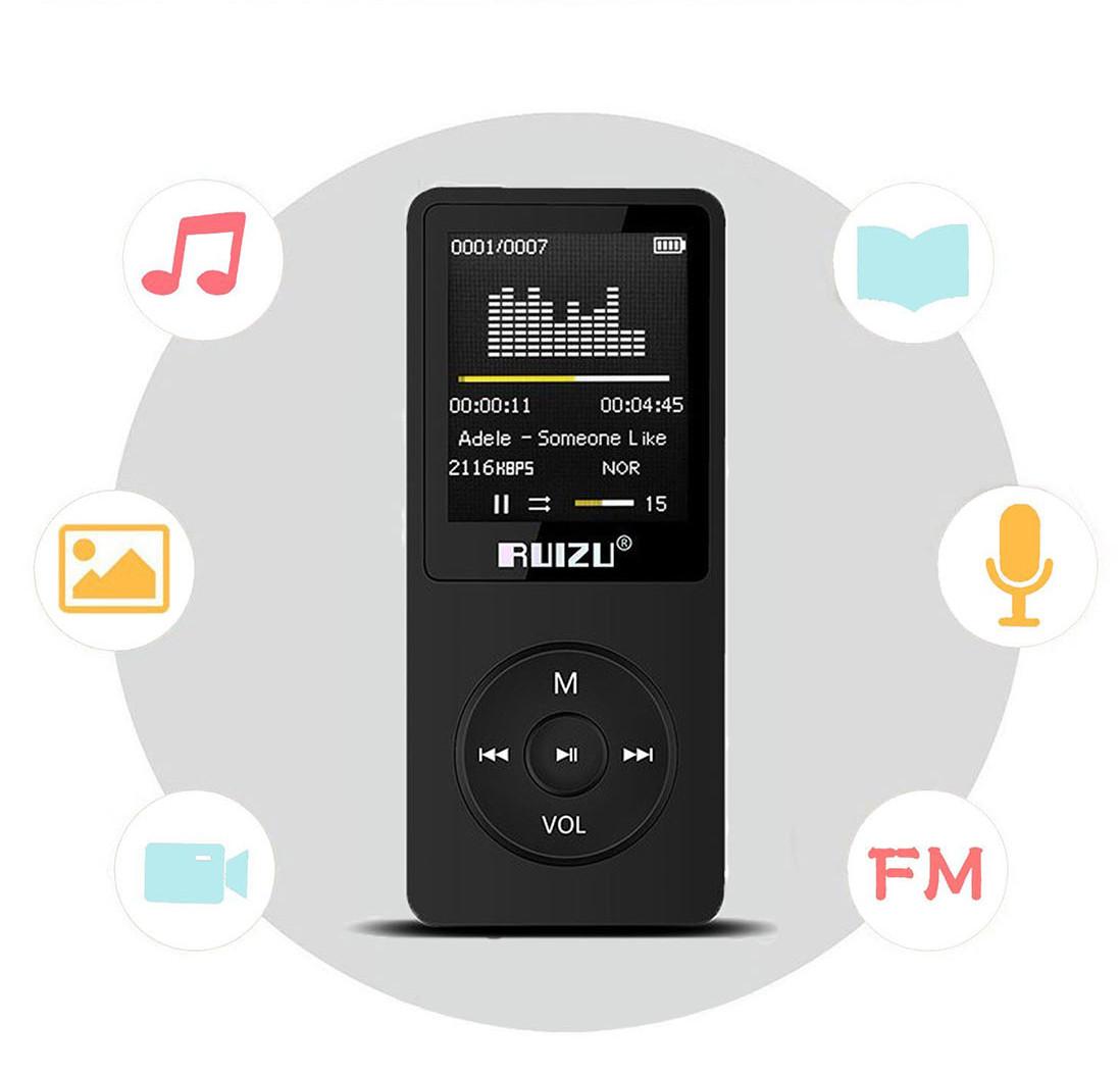 Máy Nghe Nhạc Lossless Ruizu X02 Bộ Nhớ Trong 8GB AZONE - Hàng Nhập Khẩu