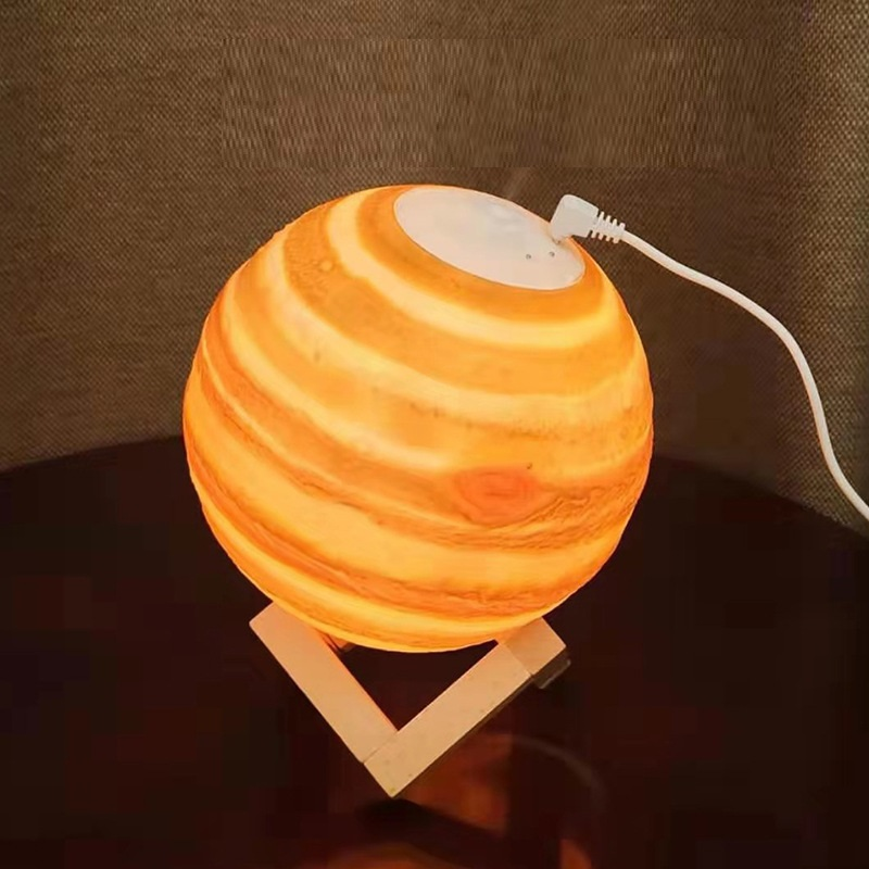 Máy tạo độ ẩm đèn mặt trăng [có đế ] kiêm đèn ngủ giúp căn nhà bạn trở nên tinh tế,sang trọng, xinh lung linh)-giao màu ngẫu nhiên