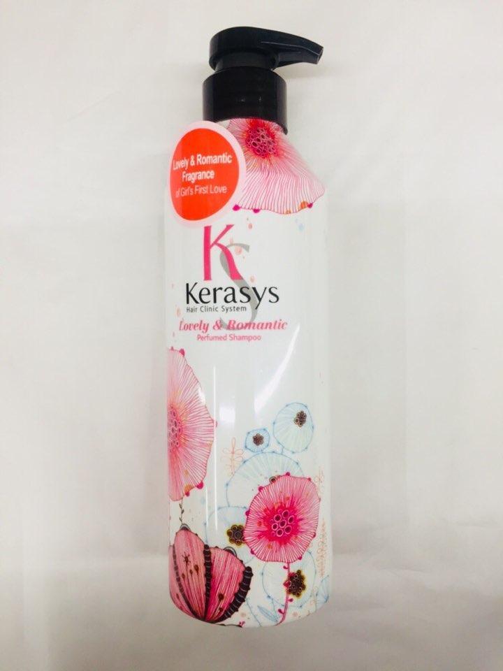 Dầu gội nước hoa Kerasys Lovely & Romantic hương hoa nhài, cúc Hàn Quốc 600ml tặng kèm móc khoá