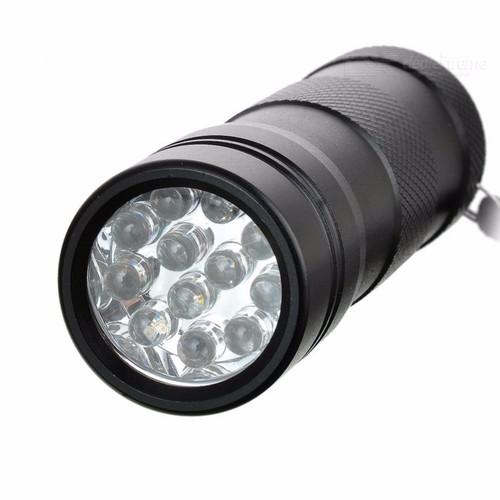 Đèn pin cầm tay tia cực tím UV kiểm tra tiền 12 Led