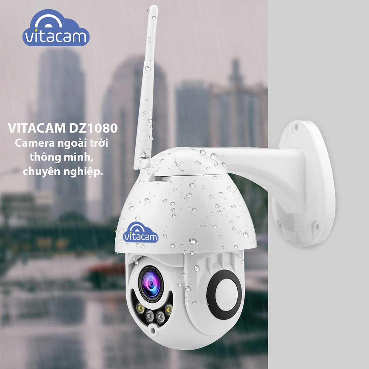 Camera Ngoài Trời Camera IP Wifi Vitacam DZ1080 - 2.0mpx Full HD 1080P  - Hàng Chính Hãng