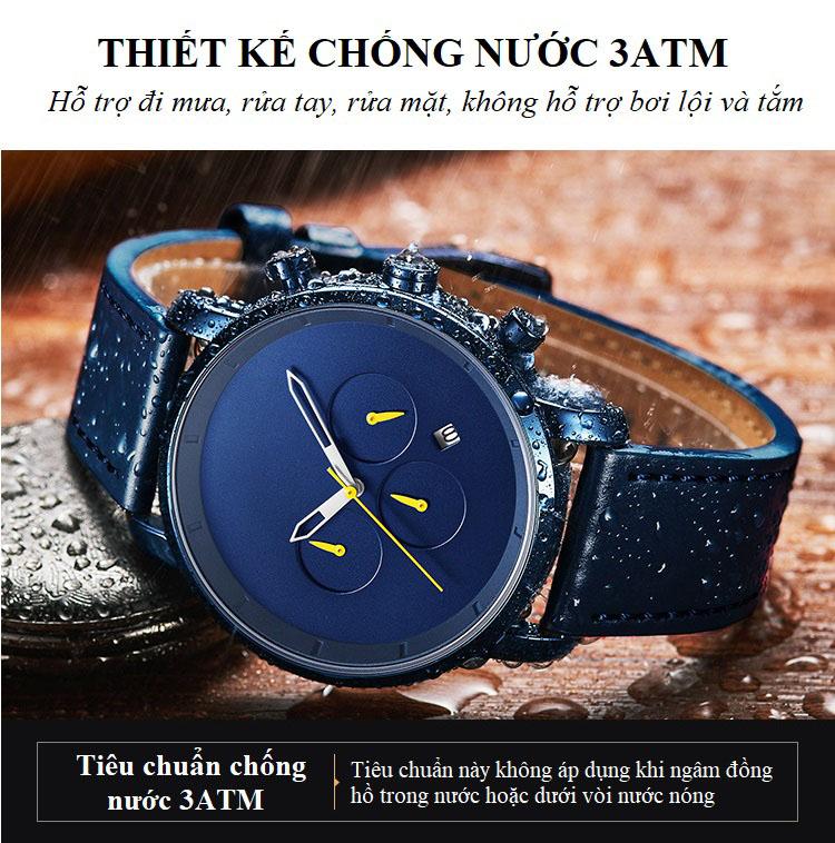 Đồng Hồ Nam Phong Cách Doanh Nhân Chạy Đủ 6 Kim 102G
