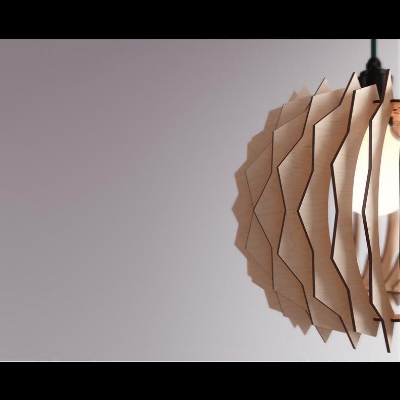 Đèn gỗ thả trần CAO CẤP hiện đại sang trọng 28,5x28,5cm chất liệu gỗ trang trí cho phòng khách nhà căn hộ decor nhà quán cafe
