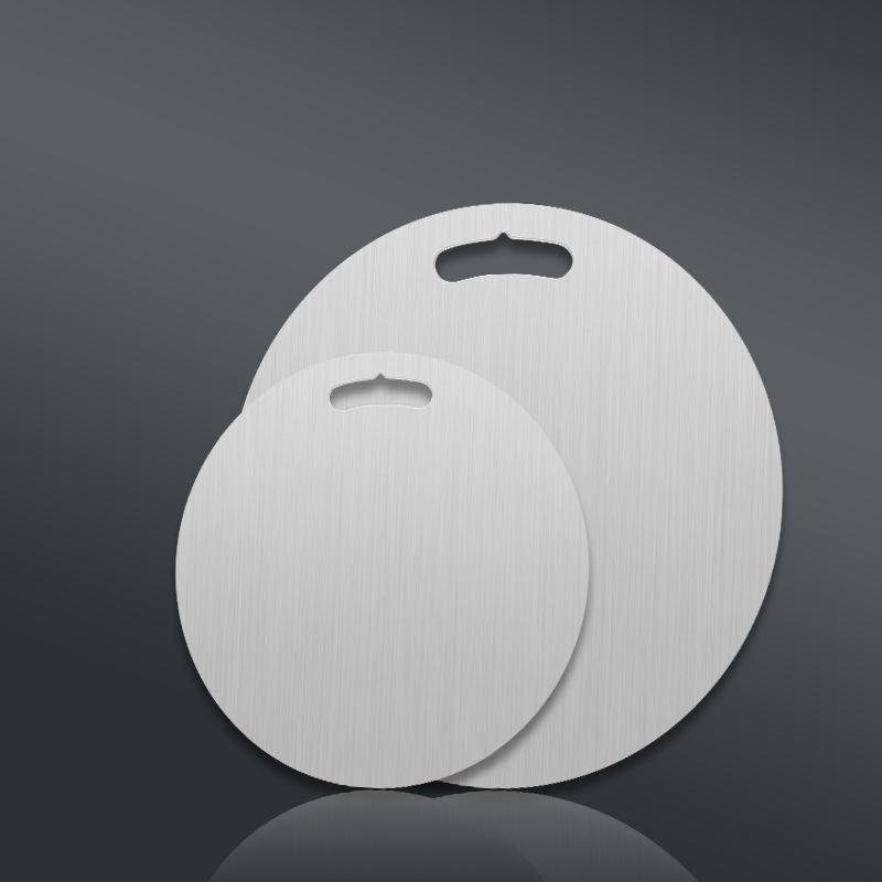 THỚT INOX 304 TRÒN KHÁNG KHUẨN - GIÃ ĐÔNG - CHỐNG RỈ SÉT 30cm - Dày 0.3cm
