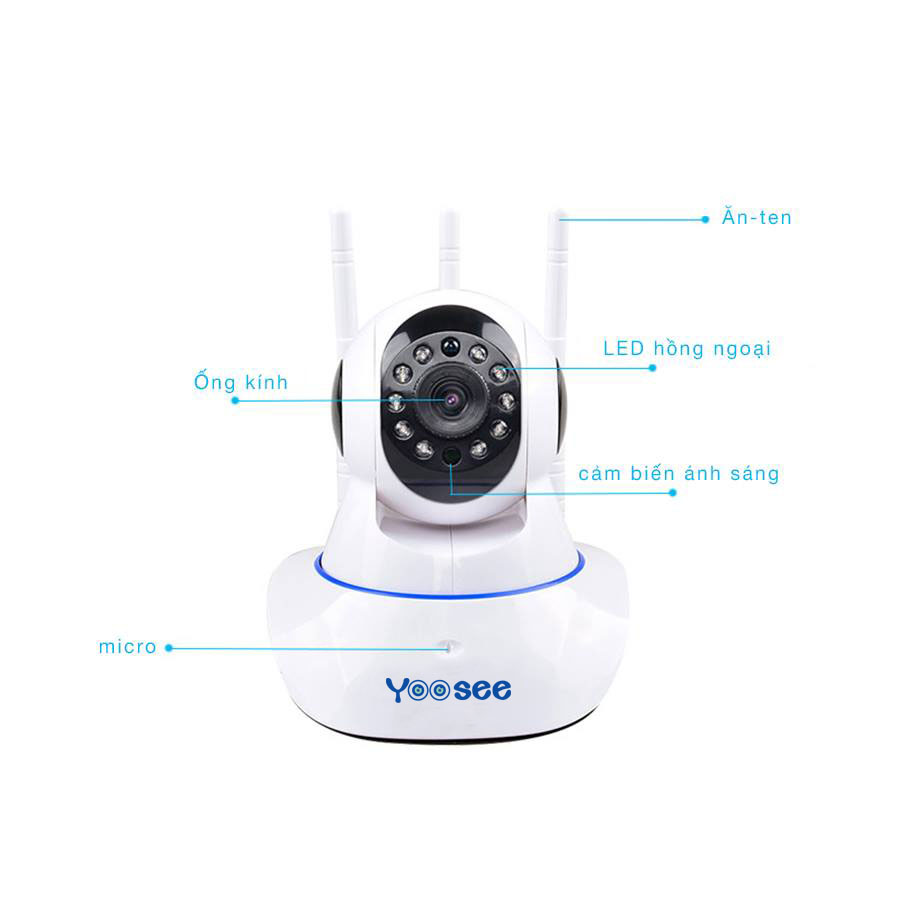 Camera Yoosee HD720P 3 Râu Kèm Thẻ Nhớ 32GB