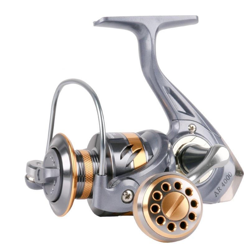 Bộ cần câu cá - Cần 2m1 kèm máy kim loại Chính hãng Deukio AR 4000 - Tặng kèm 9 phụ kiện