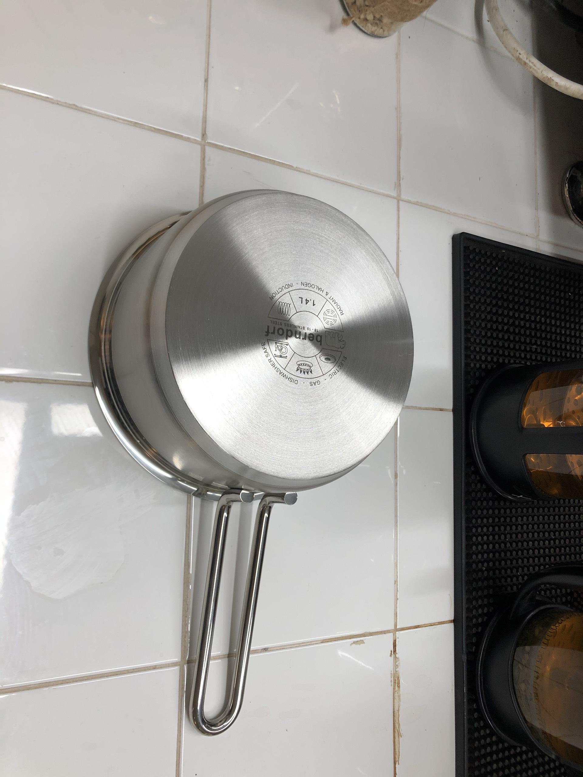 Chảo Quánh Inox  304 Cao Cấp Đáy 3 Lớp  1.4 L - Low Saucepan without lid 16x7.0cm Berndorf Sandrik