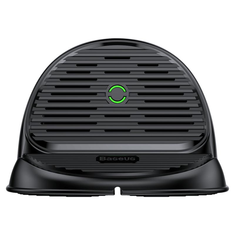 Đế sạc nhanh không dây để bàn Baseus Silicone Horizontal - Hàng chính hãng (Đen)